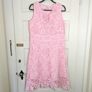 XL KIMILILY BABY PINK LACE DRESS🌸💮